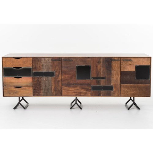 Four Hands Bina Gonze Console with 4 Doors