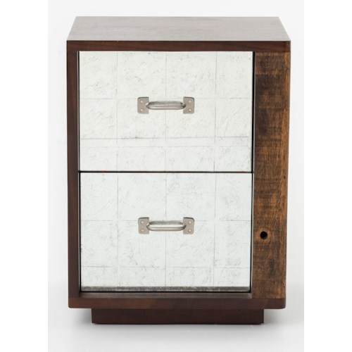 Four Hands Bina James End Table Right w/ Mirrored Drawers