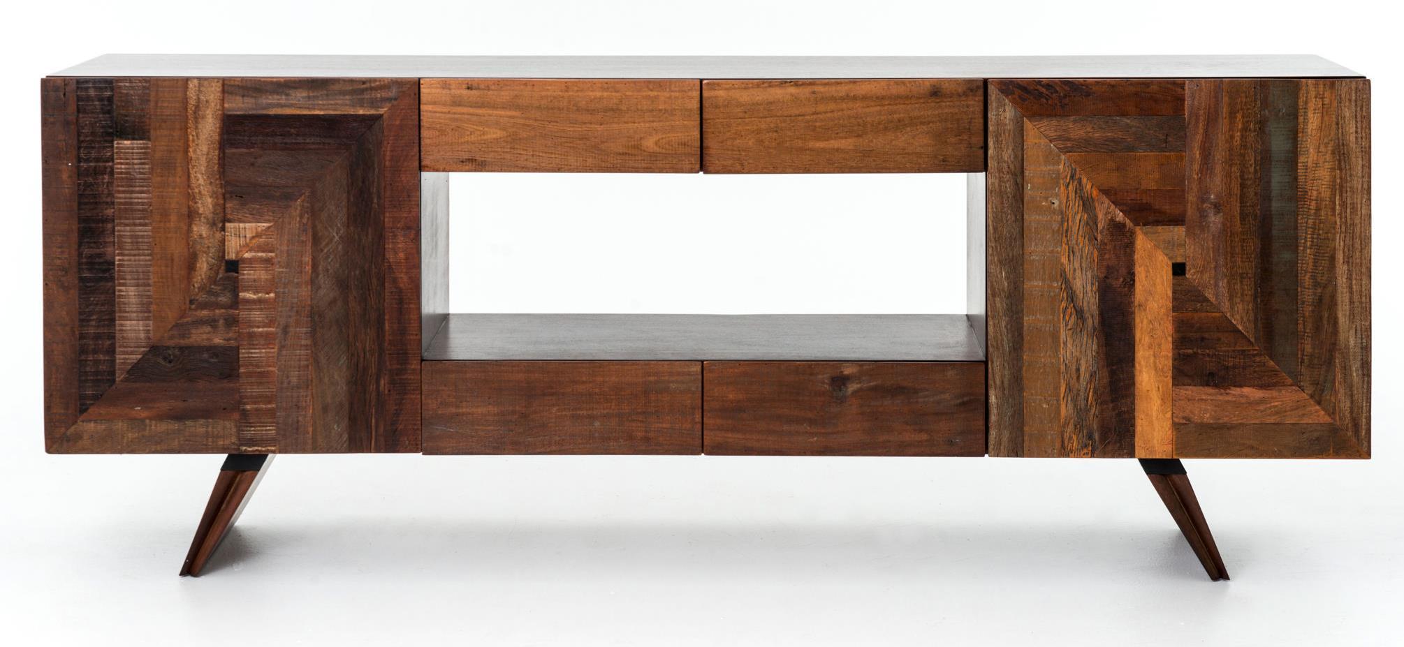 Rex Modern Media Cabinet w/ Reclaimed Wood