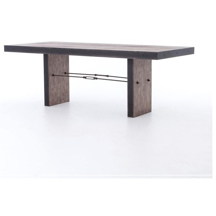 Four hands bina gerard dining table with driftwood finish