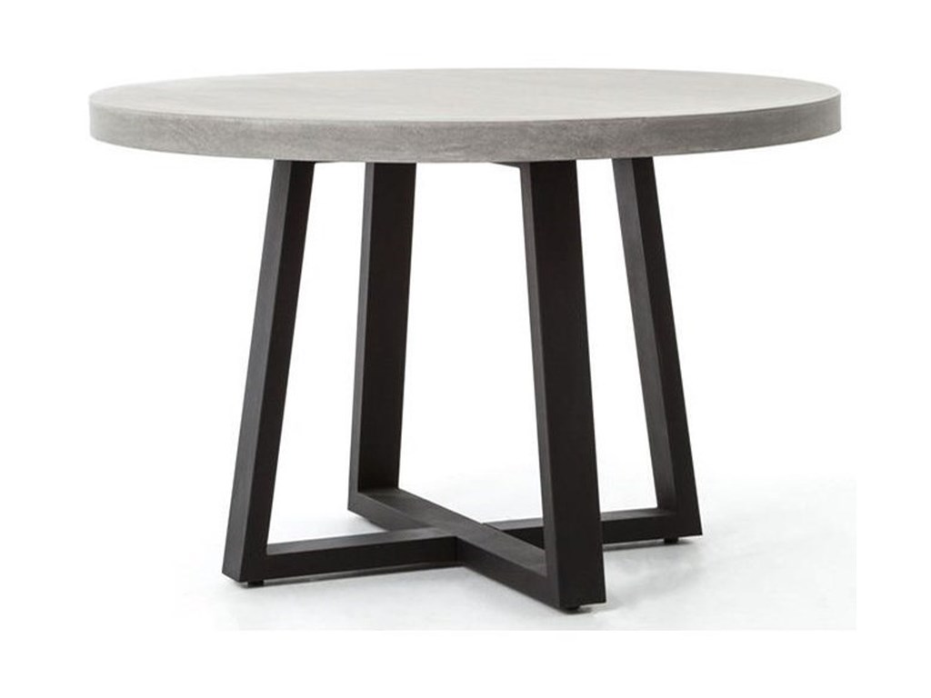 Four Hands Constantine Cyrus 48 Round Dining Table With Iron Base