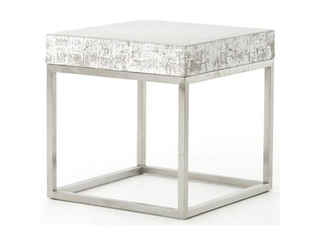 Four Hands ConstantineConcrete And Chrome End Table
