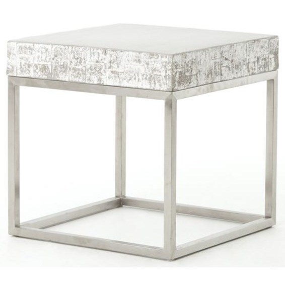 Four Hands ConstantineConcrete And Chrome End Table