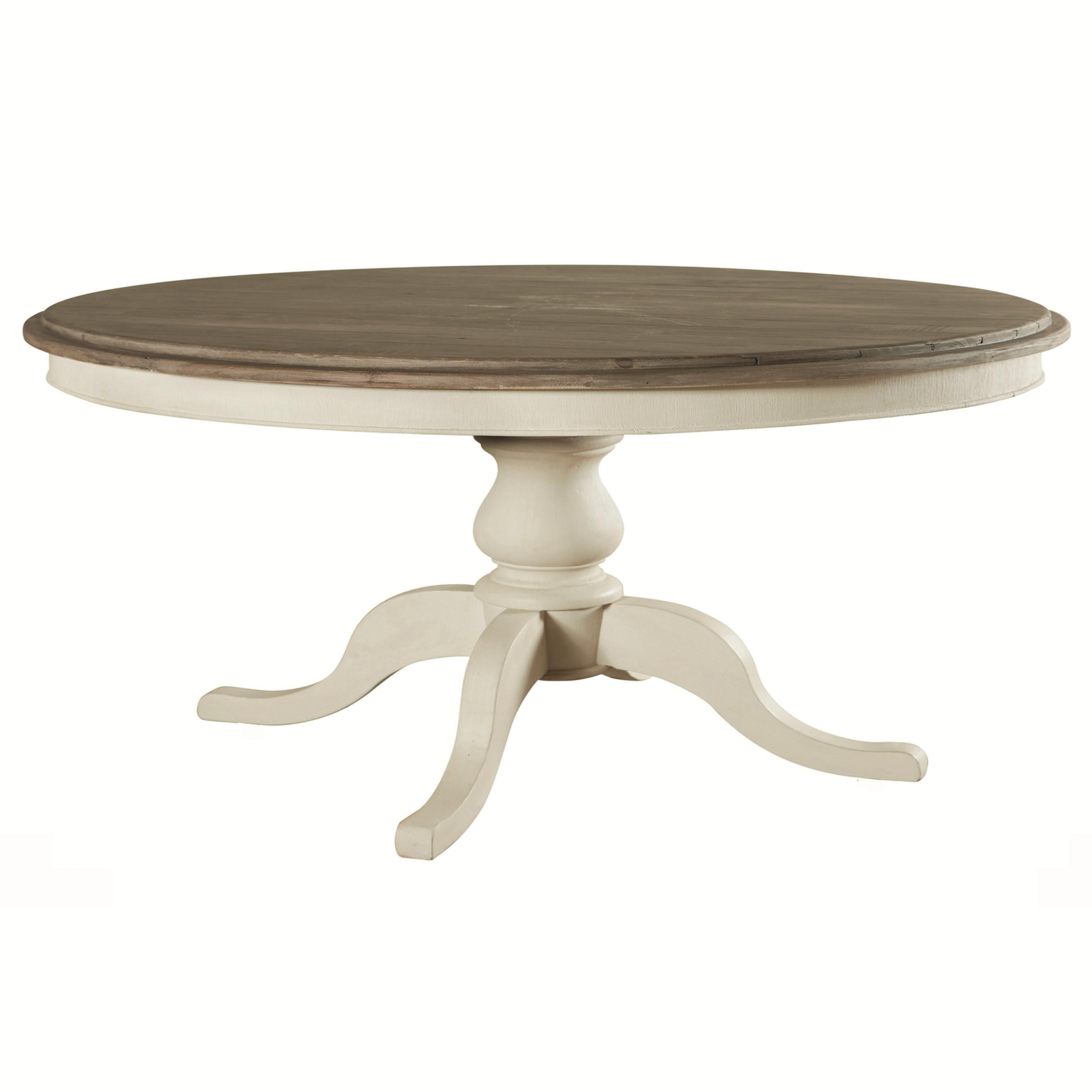 Genial Four Hands Cornwall Round Dining Pedestal Table. Cornwall Collection