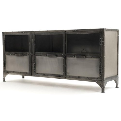 Four Hands Element industrial Metal Media Console