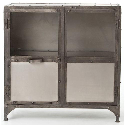 Four Hands Element Industrial Metal Sideboard with Glass Doors