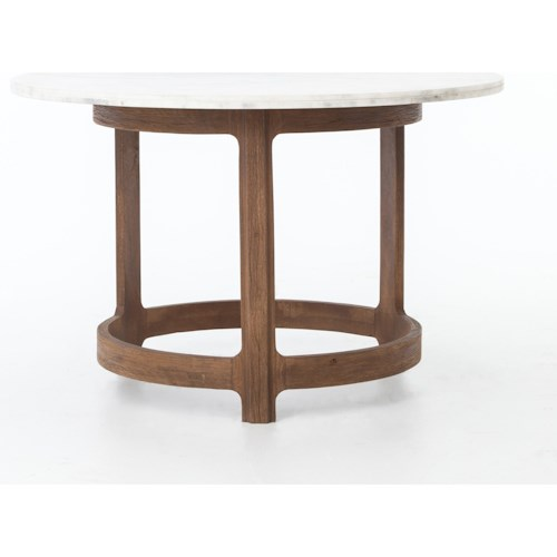 Four Hands Gibson Bistro Gibson Bistro Table with Polished White Marble