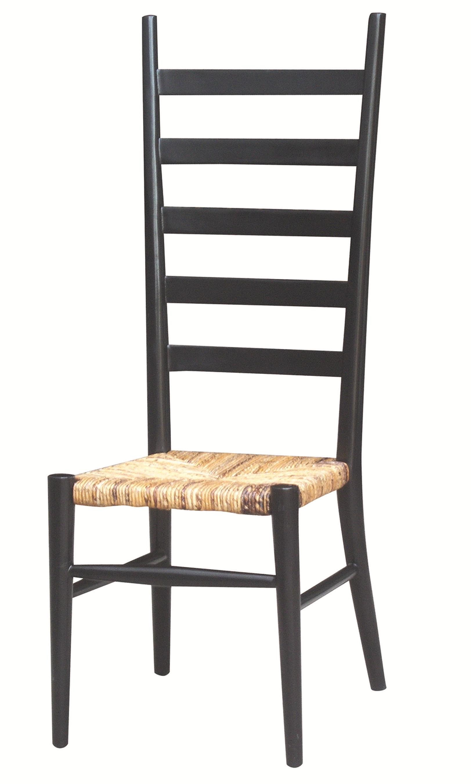Four Hands Grass Roots Tall Ladder Back Dining Chair W/ Woven Seat