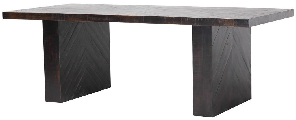 Four Hands Hadley Suki Rectangle Dining Table in Burnished Black
