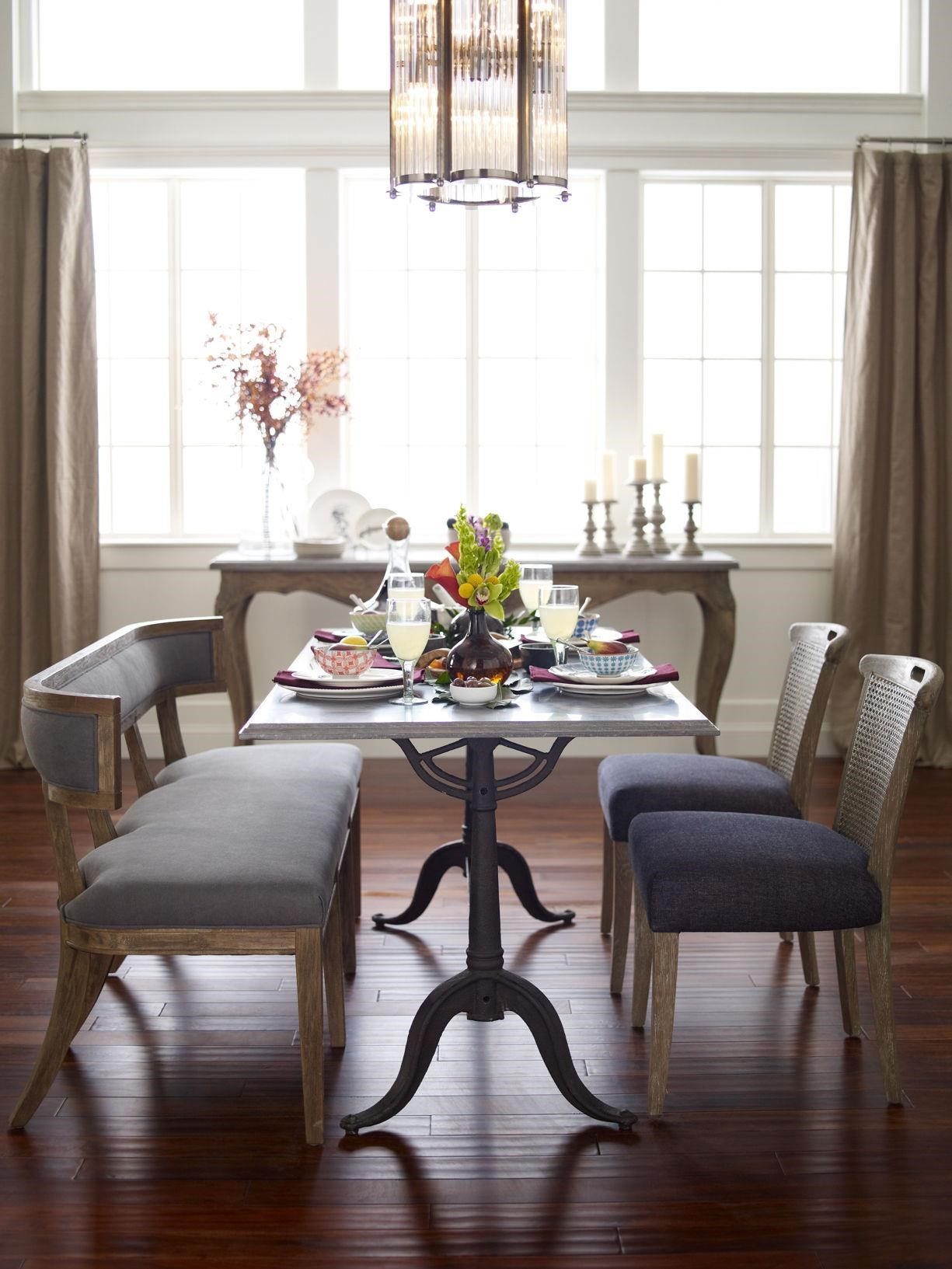 Four Hands Hughes Parisian Dining Table With Bluestone Top