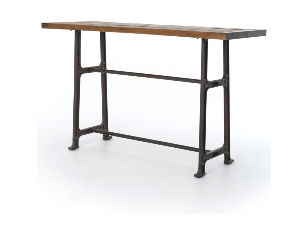 Four hands hughes alistair pub table with distressed top olindes four hands hughes alistair pub table with distressed top watchthetrailerfo