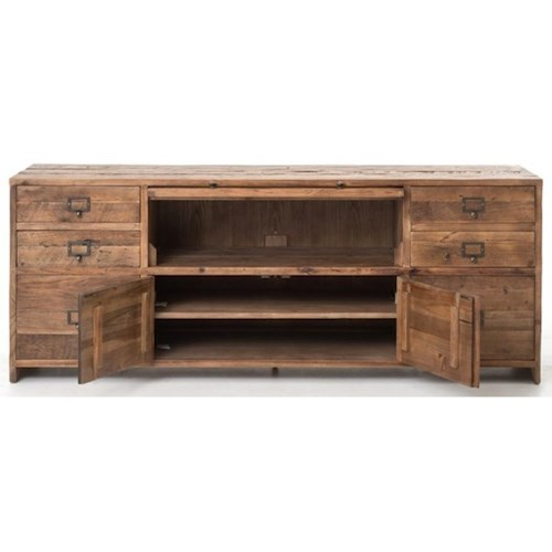 Four Hands Durham Hughes Media Console-Bleached Pine