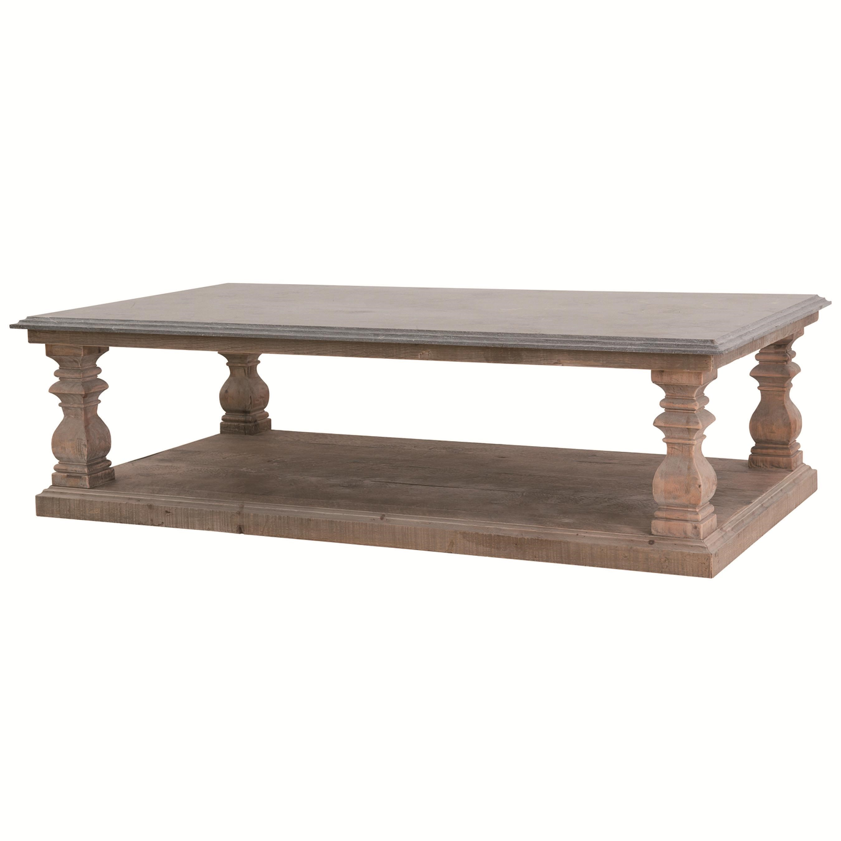 Four Hands Hughes Wesley Coffee Table With Bluestone Top