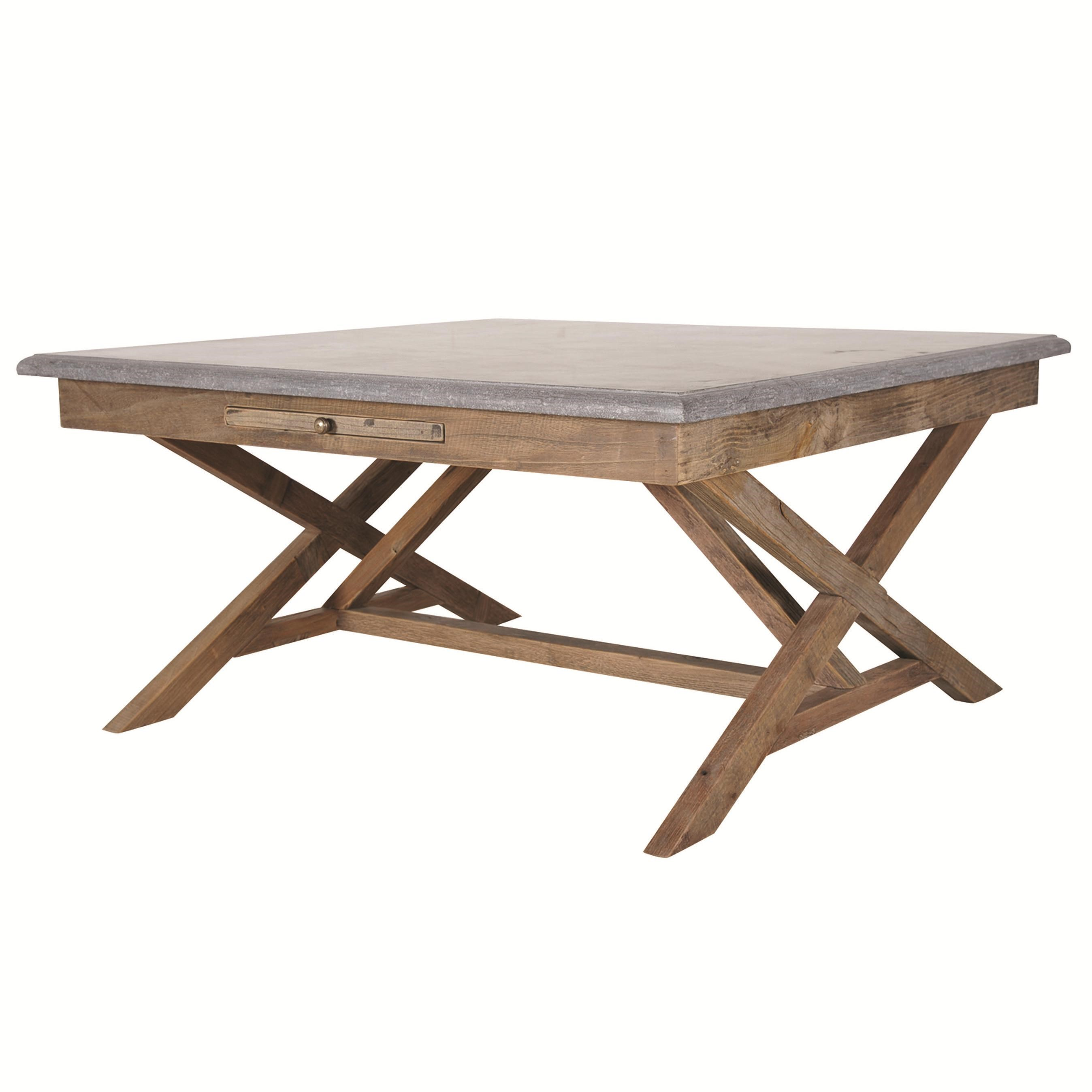 Four Hands Hughes Palma 35 Inch Bluestone Bunching Table With Stretcher