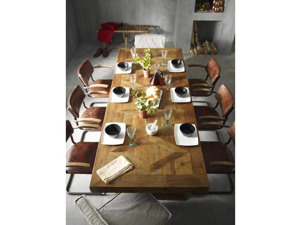 Hughes Reclaimed Castle Dining Table By Four Hands At Olinde S Furniture