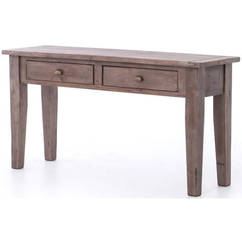 Four Hands Irish Coast Console Table with 2 Drawers. Color: Sundried Ash