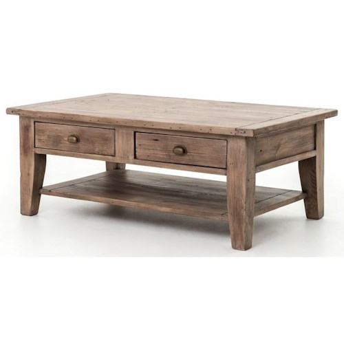 Reclaimed Wood Coffee Table Ireland: Four Hands Irish Coast Reclaimed Wood Coffee Table