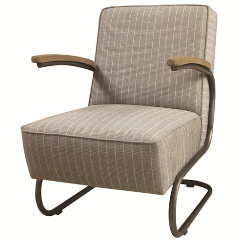 Four Hands Irondale Miles Club Chair with Iron Base