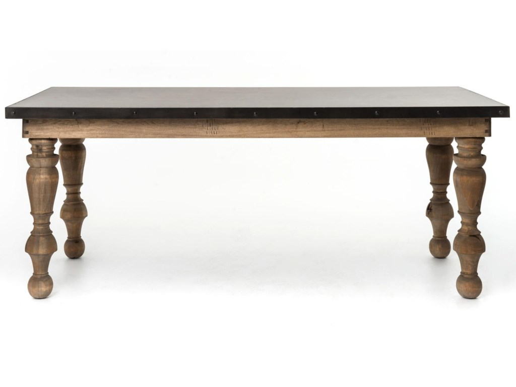 Irondale Daphne Dining Table With Antique Zinc