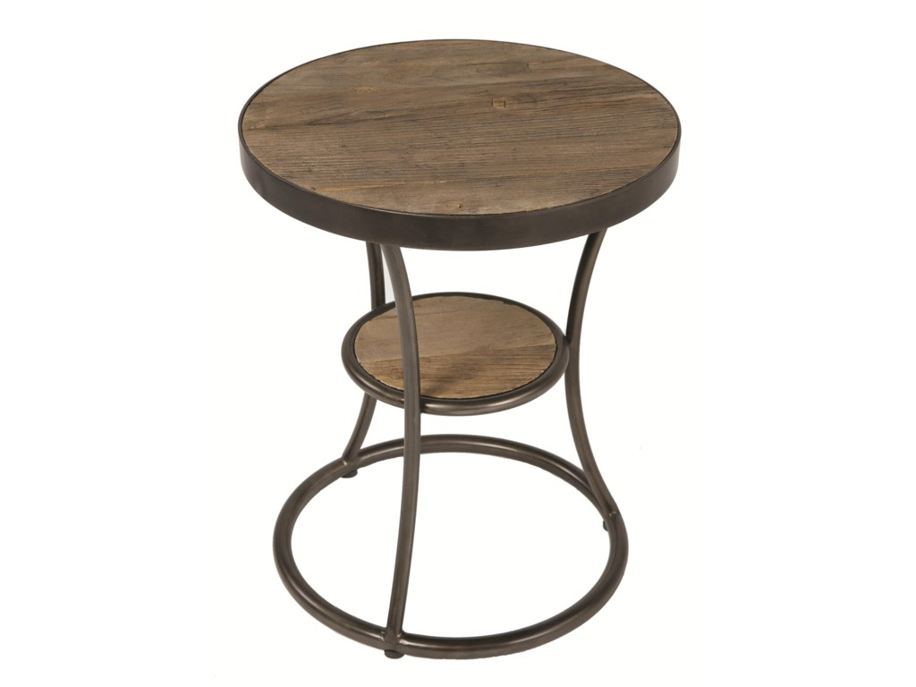 Round side tables - Four Hands Irondale Weathered Channing Round Side Table