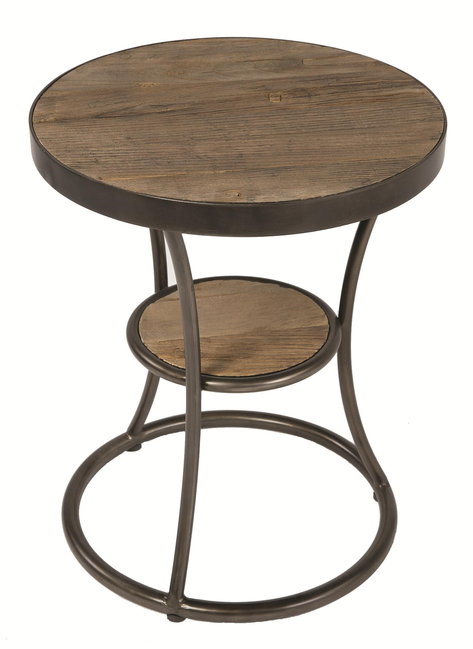 Four Hands Irondale Weathered Channing Round Side Table