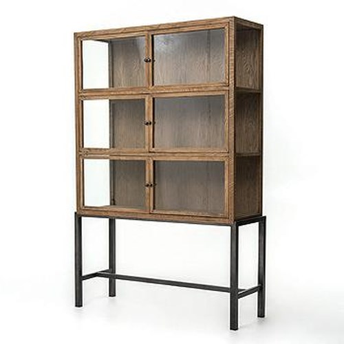 Four Hands Irondale Spencer Curio Cabinet With 3 Shelves Belfort Furniture Curio Cabinets