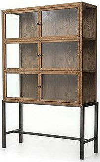 Four Hands Irondale Spencer Curio Cabinet with 3 Shelves