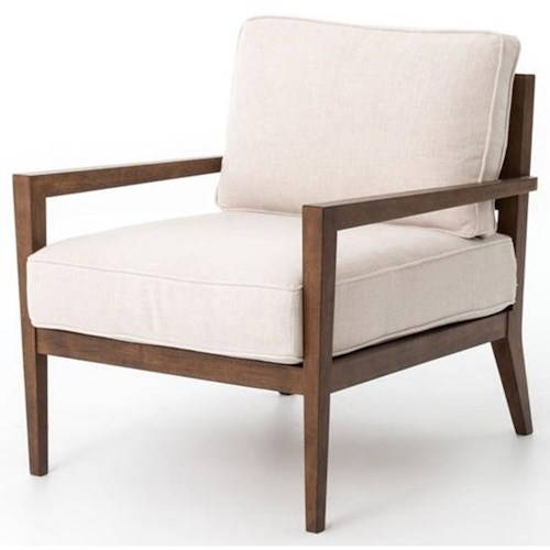 Four Hands Kensington Wood Frame Accent Chair