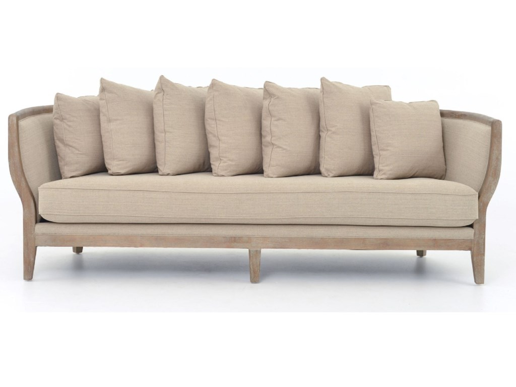 Four Hands Kensingtonhayes Sofa With Hyde Clay Fabric