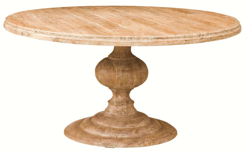 Four Hands Magnolia 60 Round Dining Table With Pedestal Base