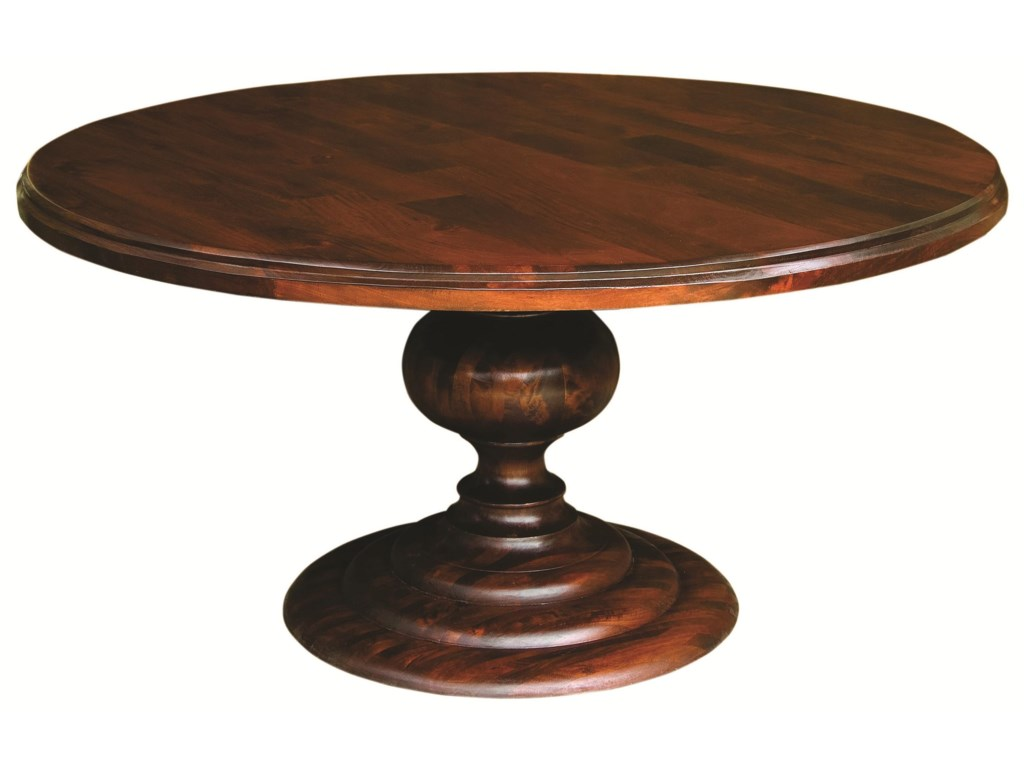 Four Hands Magnolia Round Dining Table With Pedestal Base - Dining room table for four