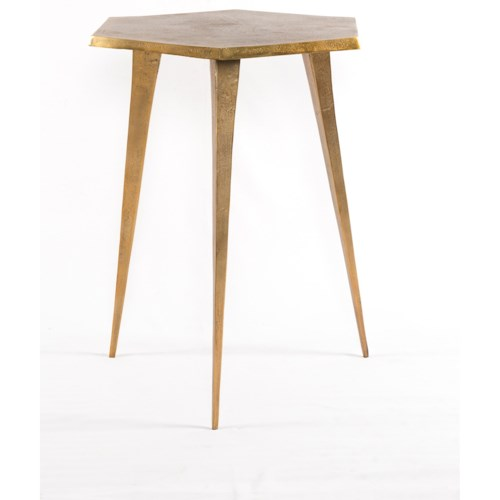 Four Hands Marlow Angular Hex End Table