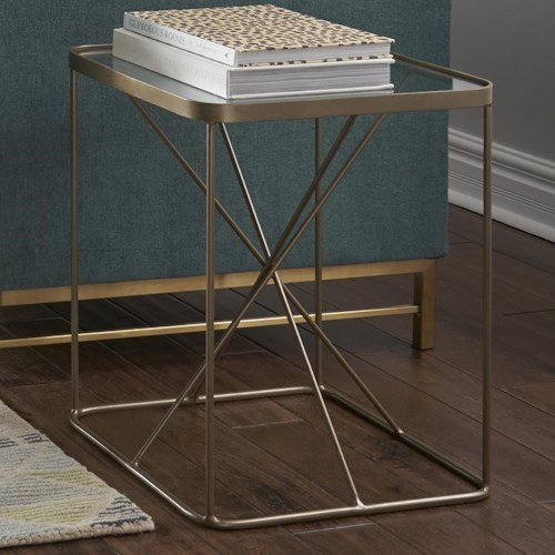 Four Hands Marlow Lucas Geometric End Table