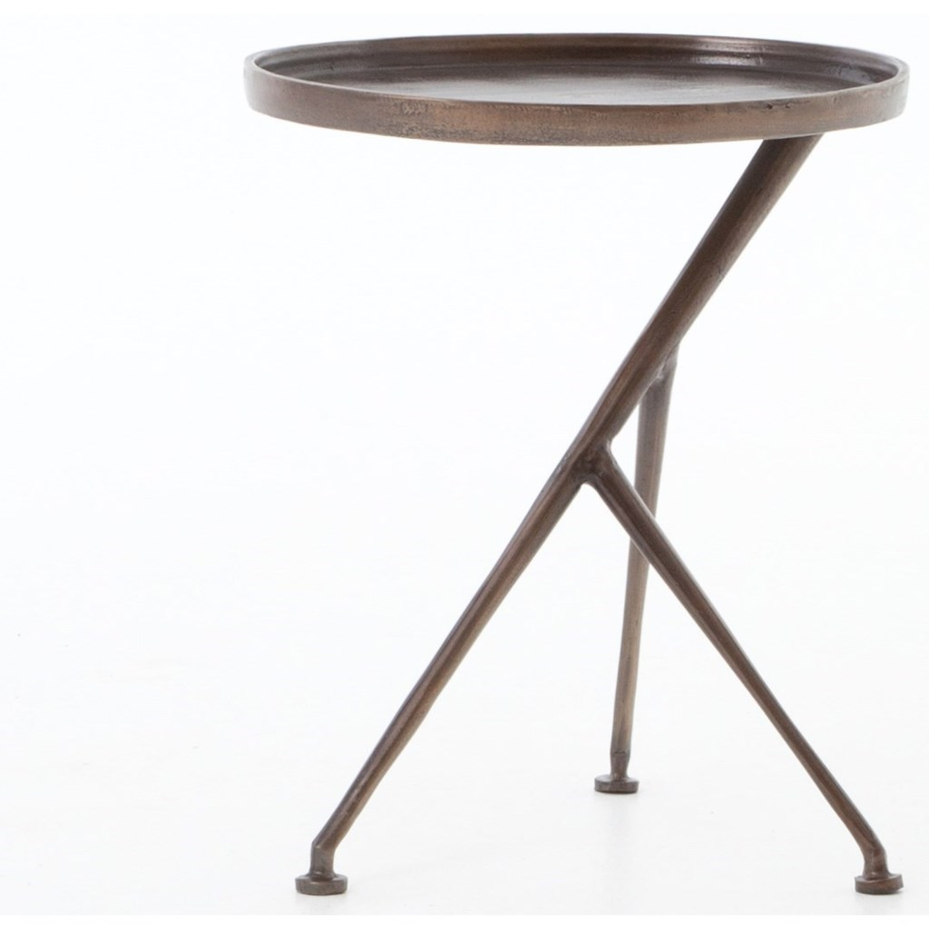 Four hands marlow schmidt accent table with angular legs
