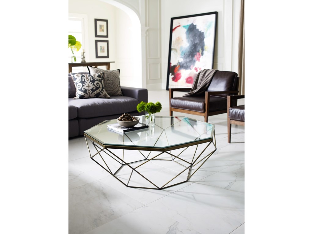 Four hands marlow geometric coffee table with glass top belfort four hands marlow geometric coffee table with glass top geotapseo Gallery