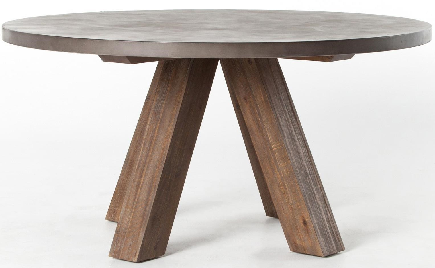 Four Hands Patten Chatham Dining Table With Concrete Top