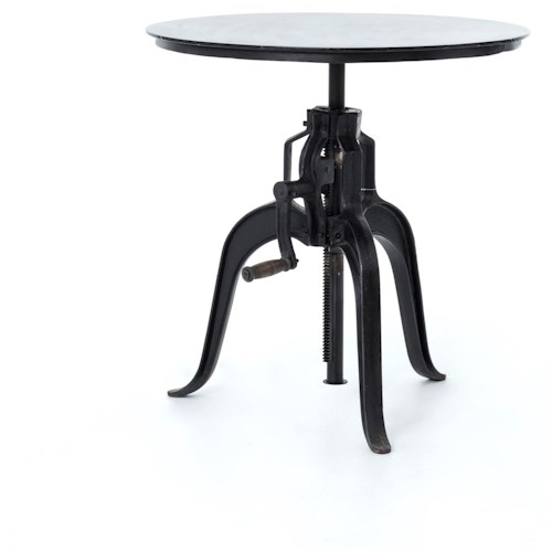 Four Hands Rockwell Round Adjustable Industrial Style Table