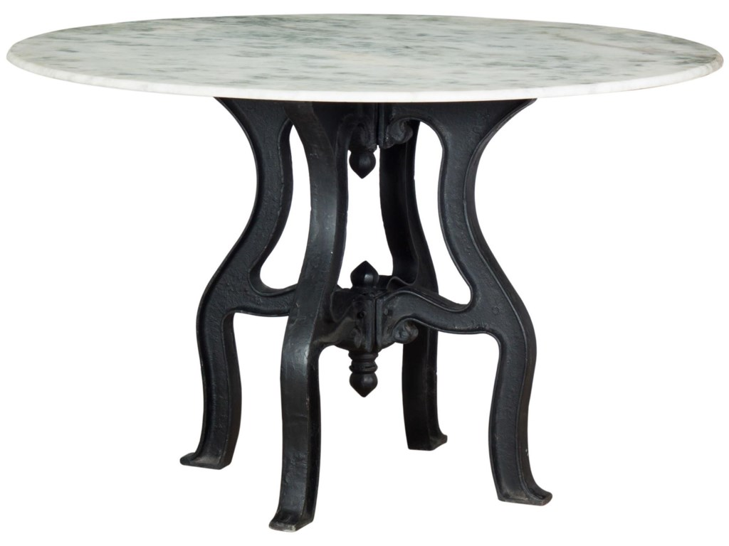 Four Hands Rockwell Hobbs Round Dining Table with Marble Top ...