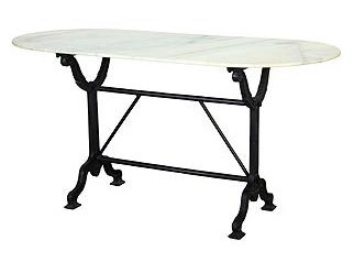 Four Hands Rockwell Oval Writing Desk With Marble Top