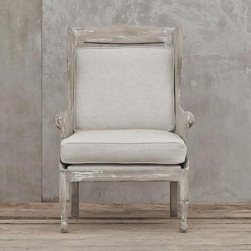 Four Hands Van Thiel Alderman Lyon's Chair with Ardennes Pebbles Chair