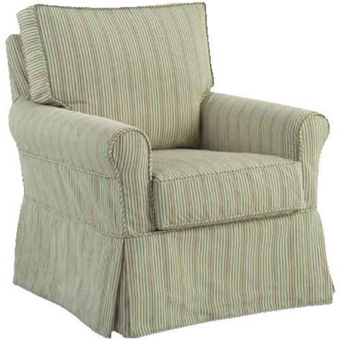 four seasons furniture accent chairs libby swivel glider chair with rolled arms - Glider Chairs