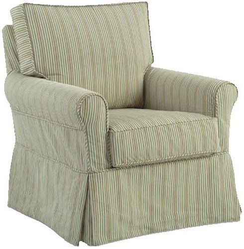 Four Seasons Furniture Accent Chairs Transitional Libby Swivel Glider Chair with Rolled Arms