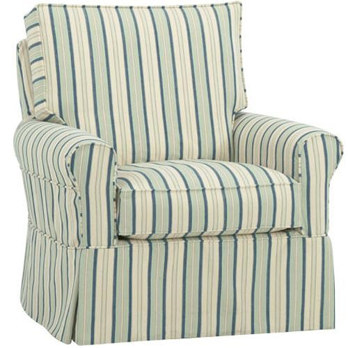 Four Seasons Furniture Accent Chairs Transitional Extra Large Libby Swivel Chair with Rolled Arms