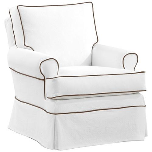 Four Seasons Furniture Accent Chairs Transitional Sara Swivel Glider Chair with Rolled Arms