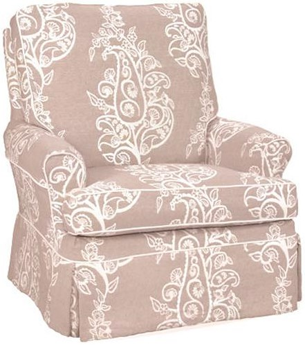 Four Seasons Furniture Accent Chairs Transitional Aiden Swivel Glider Chair with Rolled Arms