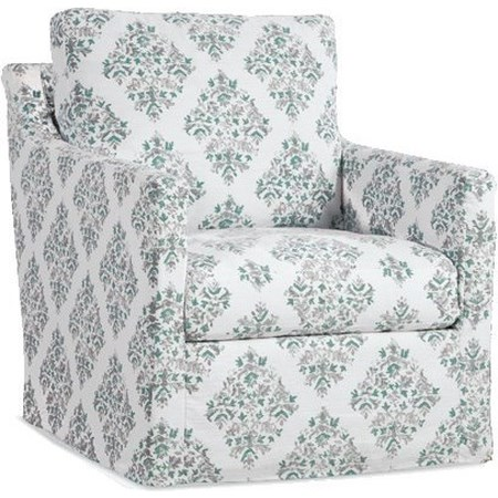 Slipcover Swivel Glider Chair