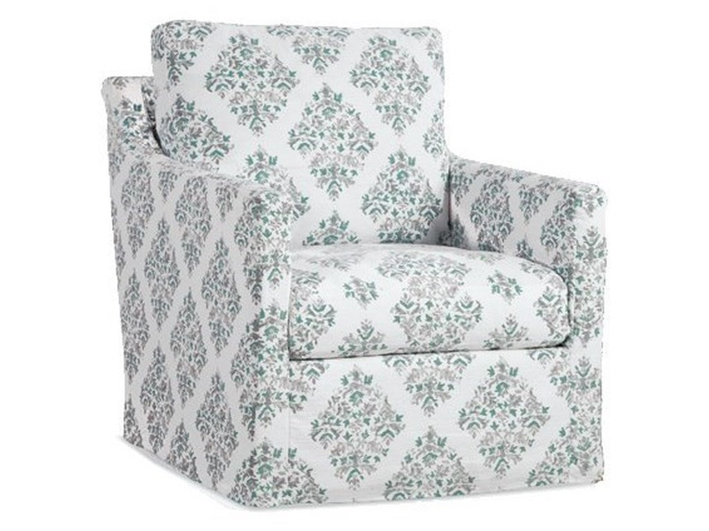 Four Seasons Furniture Accent ChairsSlipcover Swivel Glider Chair