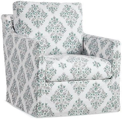 Four Seasons Furniture Accent Chairs Upholstered Swivel Glider Chair with Track Arms