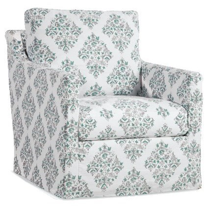 Four Seasons Furniture Accent Chairs Slipcover Swivel Glider Chair With  Track Arms