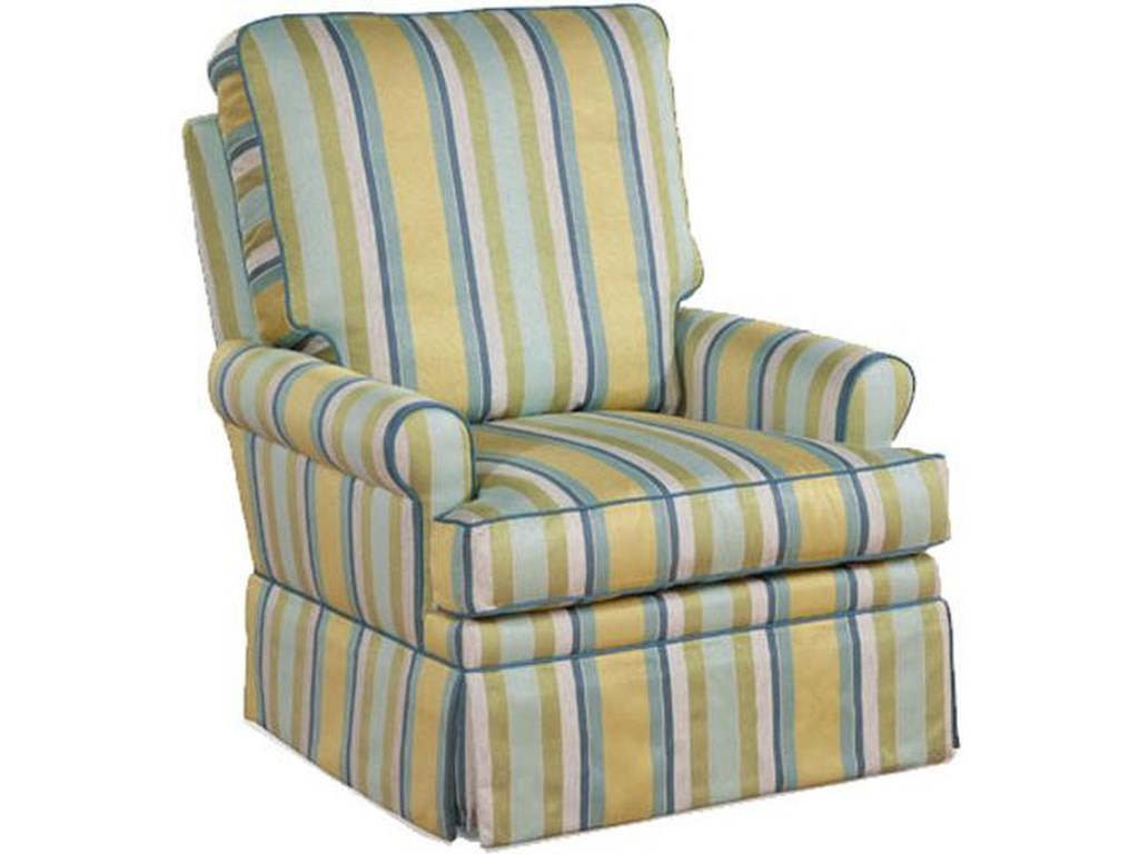 Four Seasons Furniture Accent ChairsTrans Aiden Fully Upholstered Swivel Glider